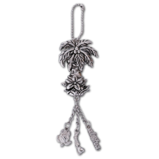 Palm Tree Charm Keychain