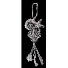 Seashell Charm Keychain