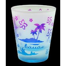 Hula Girl Kauai Etched Shot Glass