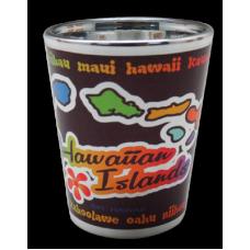 Hawaii Islands Electro Shot Glass
