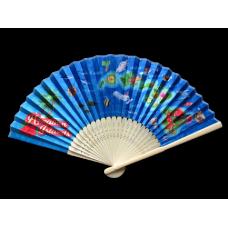 Hawaiian Islands Bamboo Fan