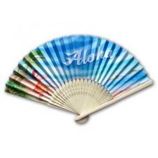 Aloha Hula Girl Bamboo Fan