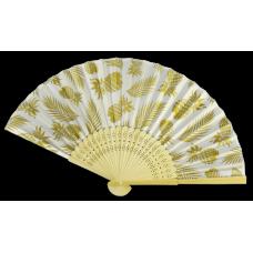 Golden Pineapple Bamboo Fan