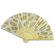 Golden Pineapple Bamboo Fan