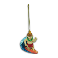 Menehune Surfing Ornament