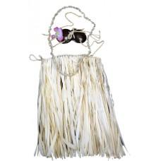 Child Natual Coconut Hula Skirt Set