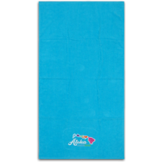 Hawaiian Islands Embroidered Towel