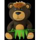 Hula Bear Buddy Pillow