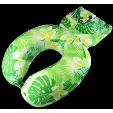 Aloha Plumeria Foam Neck Pillow