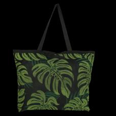 Monstera Palm Two Tone Mesh Bag