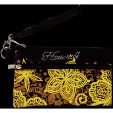 Batik Hibiscus Wristlet