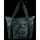 Gray Foldaway Tote Bag