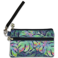 Aloha Hawaii Monstera Wristlet