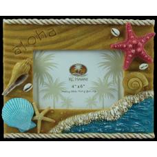 Seashells Polyresin Frame