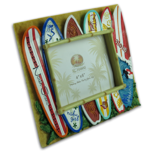 Surfboard Polyresin Picture Frame