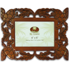 "Honu Craved Wood Frame 4"" x 6"""