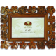 "Plumeria Carved Wood Frame 4""x 6"""