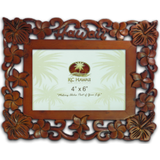 "Hawaii Craved Wood Frame 4"" x 6"""