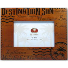 "Destination Sun Wooded Frame 4"" x 6"""