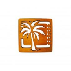 Palm Tree Wood Coaster