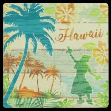 Hula Palms Coaster