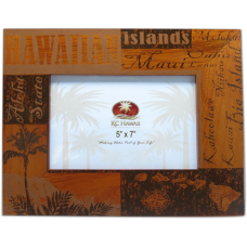 "Hawaii Wood Frame 5"" x 7"""