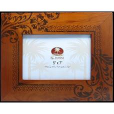 "Hibiscus Wood Frame 5"" x 7"""