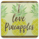 Pineapples MDF Coaster
