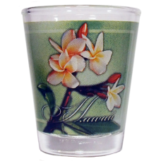 Plumeria Wrap Shot Glass