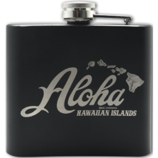 Aloha Hawaiian Islands Flask