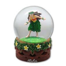 Hula Girl Globe (Large Glass)