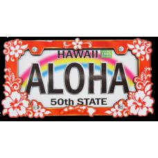 Hibiscus License Plate Magnet