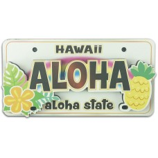 Aloha License Plate Magnet