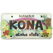 Kona Tiki License Plate Magnet