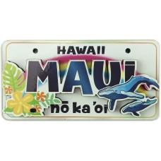 """Maui """"No Ka Oi"""" License Plate Magnet"""