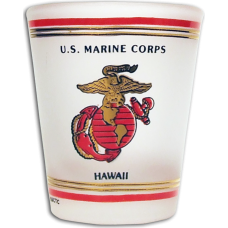 Marine Corps Hawaii Shot Glass