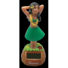 Hula Girl Posing Solar Doll