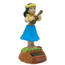 Hula Girl Ukulele Solar Doll