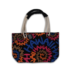Hawaii Orange Swirl Beach Bag