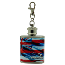 Hawaiian Flag Keychain Flask