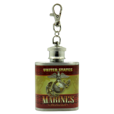 Marines Keychain Flask
