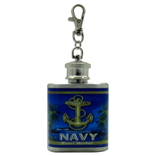 Navy Keychain Flask
