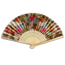 Postcards & Pineapples Bamboo Fan