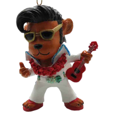 Elvis Bear Ornament