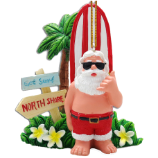 Got Surf Santa Ornament