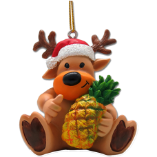 Reindeer & Pineapple Ornament