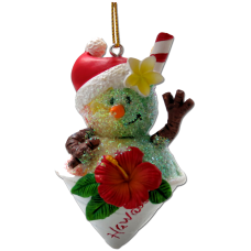 Shave Ice Snowman Ornament