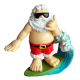 Shaka Surfing Santa Ornament