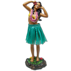 Hula Girl Singing Green