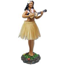 Girl with Ukulele Doll w/ Natural skirt